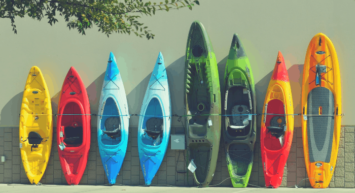 many different kayak sizes