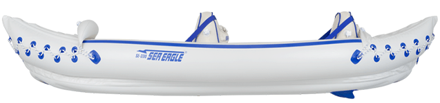Example of an inflatable kayak