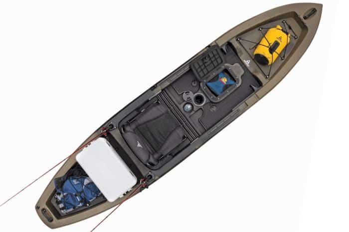 Picture of the Ascend 12Tkayak with all the storage options