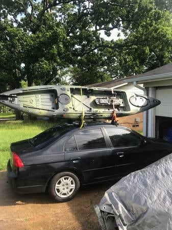 Vibe Sea Ghost 130 transported on the car