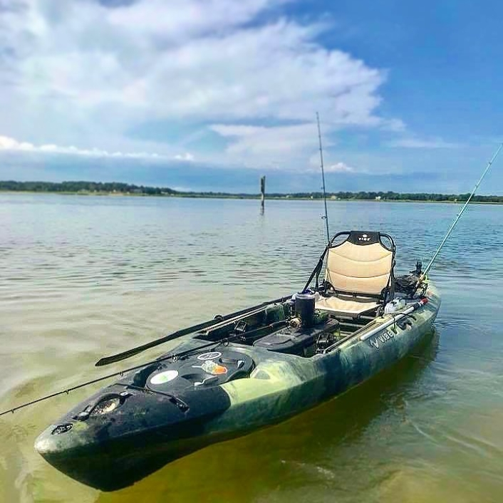 Vibe Sea Ghost 130, fishing on a bright sunny day