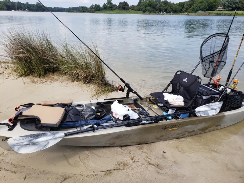 Picture of the FS128T on the beach ready to go fishing