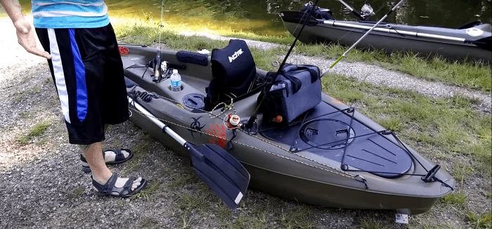 Picture of the Journey 10 SS set up for fishing