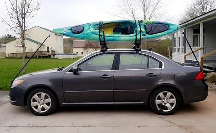 The Mustang 100X fits perfectly on top of our medium-sized car
